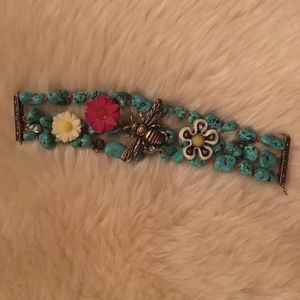 Lucky Brand Turquoise Magnetic Cuff Bracelet